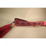 Skinnhalsband Rosa - Dekorband med tofs