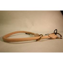 Skinnhalsband - Sand - 35cm