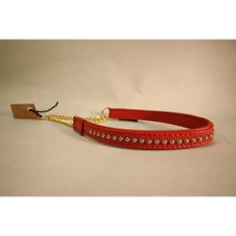 Skinnhalsband Röd - 23 cm