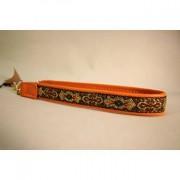 Skinnhalsband Orange - dekorband och Tofs