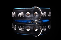 Engelsk Bulldogg Blå-Svart - 55 cm