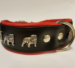 Engelsk Bulldog - Röd Svart - 55 cm