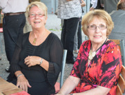 On right is Moira O'Reilly from Autrailia together with her friend from England, Christine