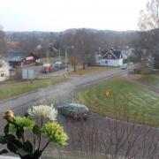 Utsikt över Knäred från Hotell Freden
