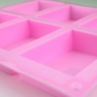 Silikonform till tvål, 6 st Rektanglar