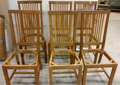 Stolarna före målning.