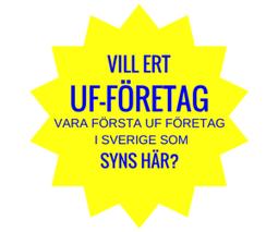 Gul 14 taggad ikon med text om UF-Företag vill synas här