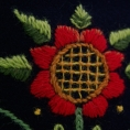 """Detail embroidery  """"Winter flower"""""""