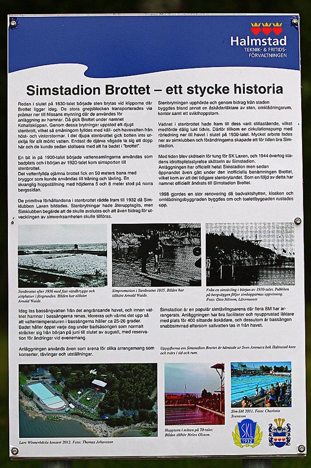 Den här sprang jag på vid Simstadion i Halmstad under SM veckan, en flygbild jag plåtade när Lars Winnerbäck hade konsert där 2012