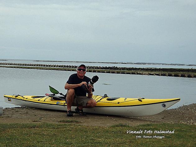 Här på ön Mandö. Självporträtt med min vatentäta kompaktare...
