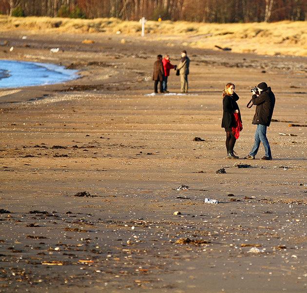 Paret på Västra Stranden testade lite porträtt i motljus