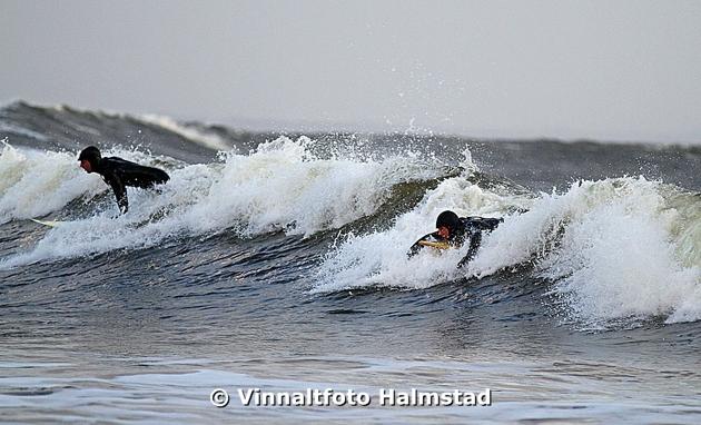 Vågorna var lite högre i Sandhamn.