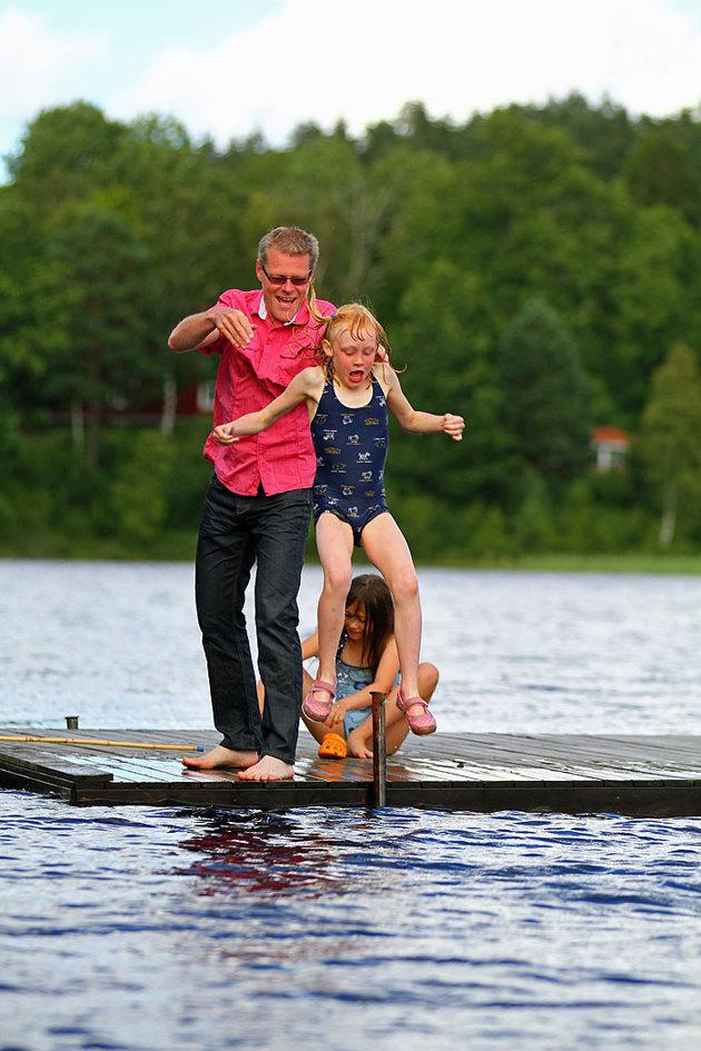 För att få till denna typ av bild får man stå ute i vattnet och plåta..