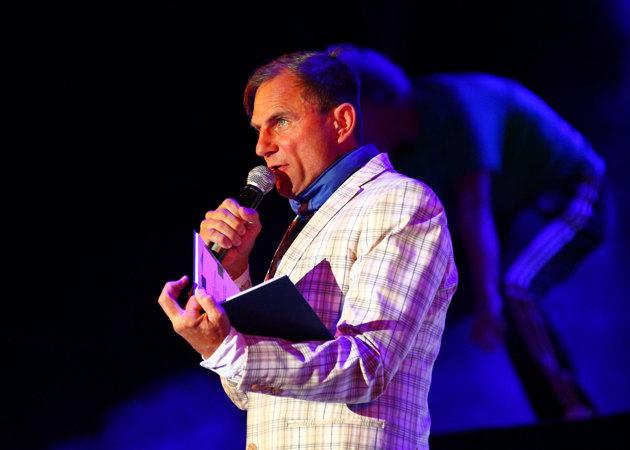 Konferencier för kvällen var Peter Wahlbeck.