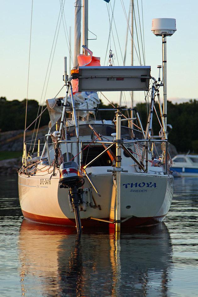 Under all bråten döljer sig en M 26... min bästa kompis på haven!! Bilden är från Hallands Väderö igårkväll