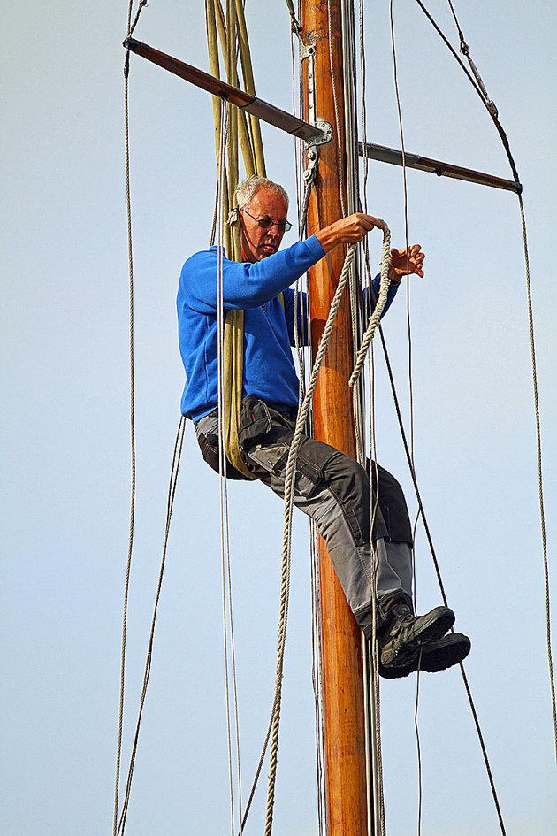 Har man 20 meter mast och en hel hög med spridare är det detta som gäller vid avmastning!!