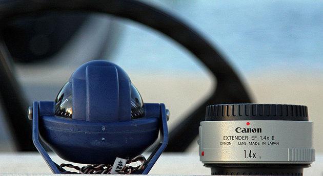 """Ibland klämmer jag på """"Extendern"""" Canon EF 1.4 II."""