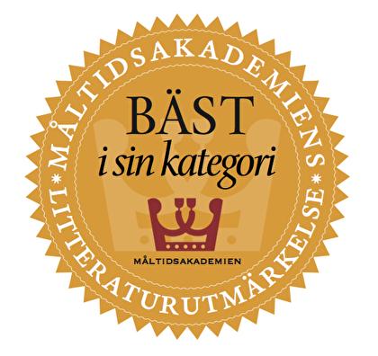 Måltidsakademiens litteraturutmärkelse Bäst i sin kategori – Logotype