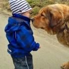 Disa gives Edwin a kiss