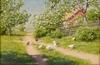 Stu´ga med pickande höns 1920