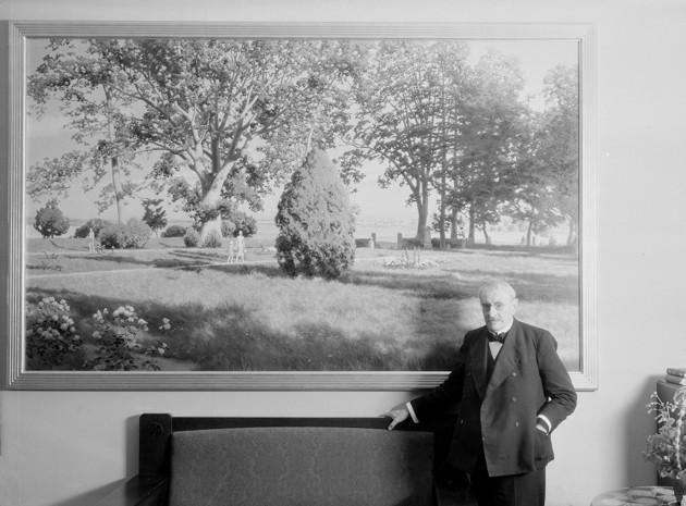 Johan Krouthén på Stora hotellet strax före sin död i december 1932