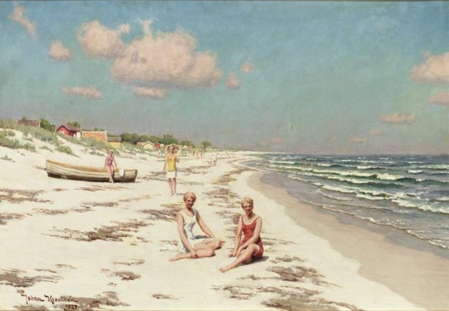 Kvinnor på stranden i Falsterbo 1927, Bukowskis