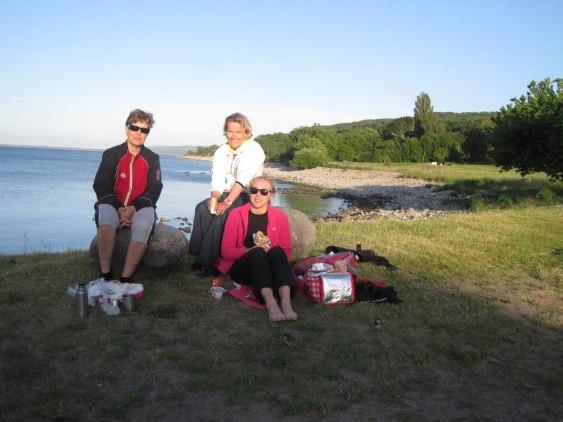 Trion som nådde fram till Kattvik.