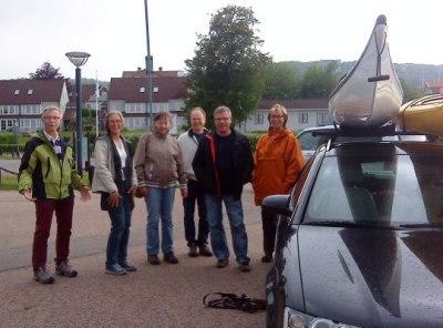 Premiär! Från väster-Folke G, Stina K, Gunilla A, Ulf S, Percy A, Inga H och Tina U bakom kameran