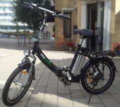 Gaze-Bike Flexline hopfällbar elcykel finns i svart, silver eller vit färg.