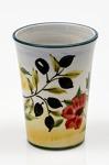 Lena Linderholm keramik Oliv och blomma Lattemugg