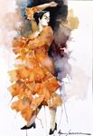 Olga Semenova 38x56 akvarell