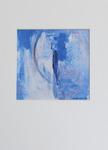 Milan Vobruba Abstrakt blå-vit 30 x 40 glaskonst