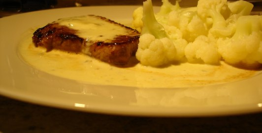 Rostasfilé med gorgonzolasås