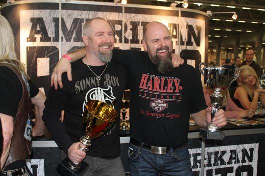 The happy winners, Håkan & Jörgen
