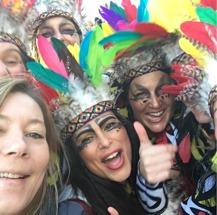 Karneval stämning i Nazaré