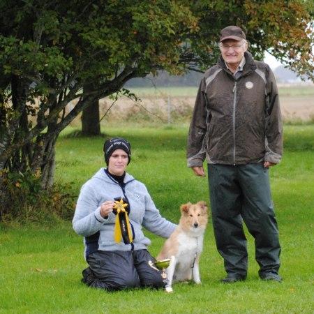 KM mästare i Lydnad 2012 Sara och Irre med domare Bo Andersson