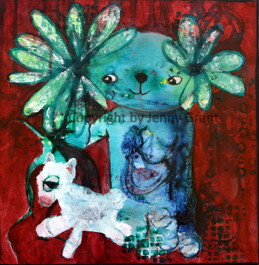 """""""Let's go for a walk"""", 30cm x 30cm, 12""""x12"""", SOLD"""