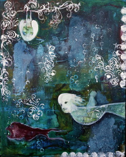 """""""Is that the moon?"""", 50cm x 30cm, (20""""x12"""") SOLD"""