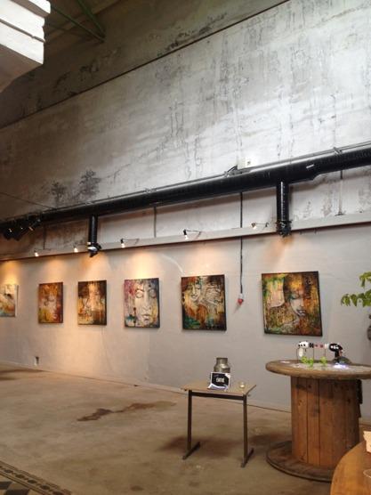 5 of my big 1x1 meter paintings side by side :-)
