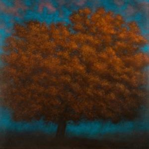 La Re-naissance 2, 2011, oil on canvas, 100 x 100 cm