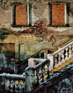 Golden Staircase (From the series Cities of the Drum) 122x91 cm