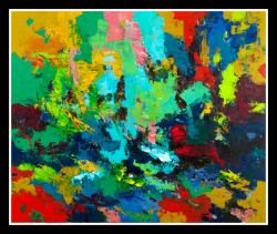 Another Go Around, 2010,  oil on canvas, 152 x 183 cm (Sold)