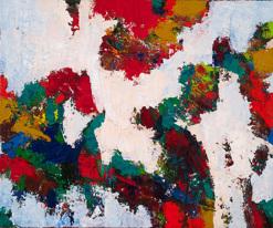 Colours Beneath, 2014, Oil on canvas, 96 x 91 cm (sold)