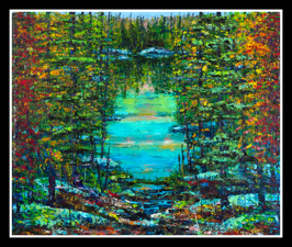 A Light In, 2010, oil on canvas, 152 x 183 cm (Sold)