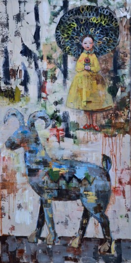 Forrest King, 2012, oil on canvas, 152 x 76 cm (Sold)