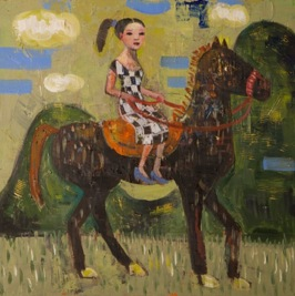 Ride in East Land, 2013, oil on canvas, 51 x 51 cm