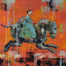 Happy Gallop, 2012, oil on canvas, 76 x 76 cm (Sold)