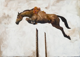 The Education of Pegasus: Sincerity, 2013, oil on linen, 152x213 cm (sold)