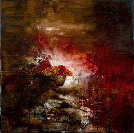 Stable Vanitas in Red, 2013, oil on linen, 91x91 cm