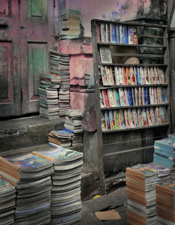 Yangon Books (From the series Burma: Land of the Day Stars) 91x72 cm